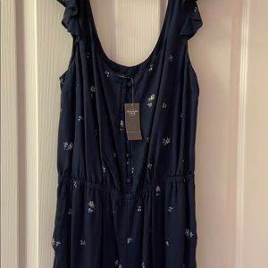 Abercrombie and Fitch Navy Blue jumpsuit
